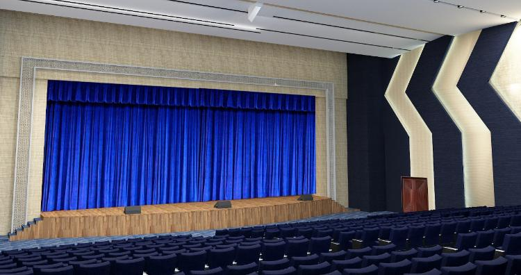 Pre Programmed Stage Curtain